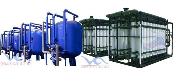 Hình ảnh hệ thống máy lọc nước chất lượng tinh khiết RO đóng bình, đóng chai